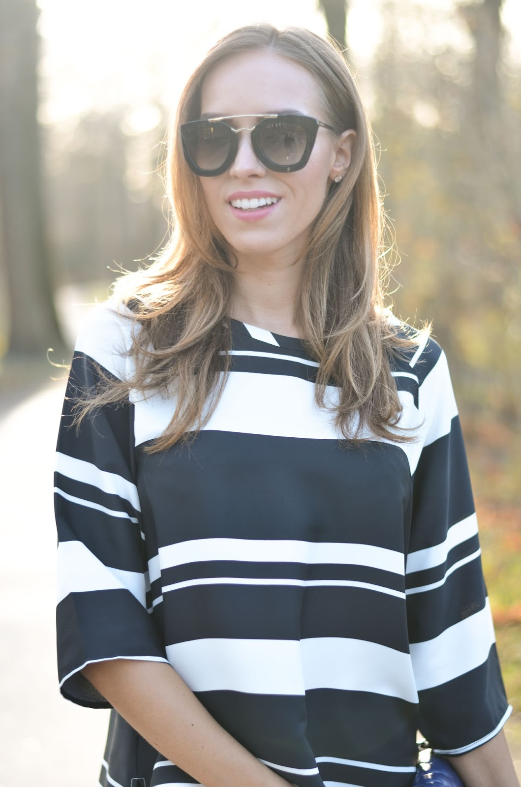 kristjaana mere striped loose top backlight fall outfit