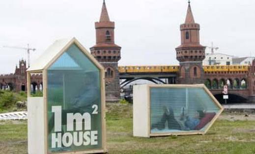 بالصور: أصغر منزل في العالم بحجم متر مكعب في برلين
