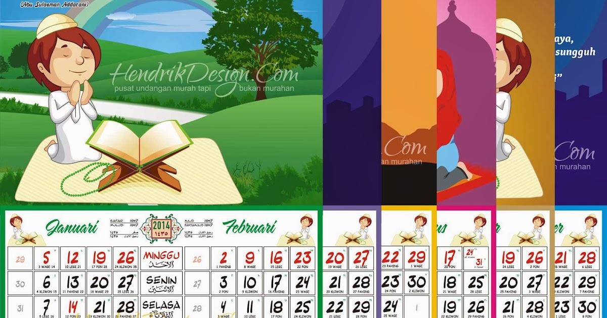 Kalender 2014 Islami Vector Edit CDR - Undangan Manten Murah