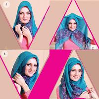 tutorial hijab azura style