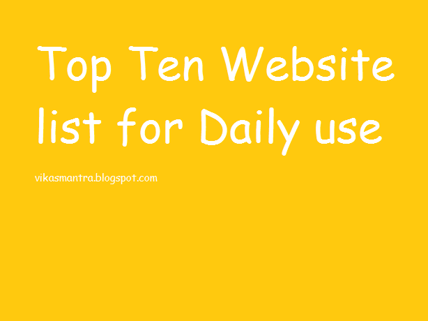 top ten websites 2015