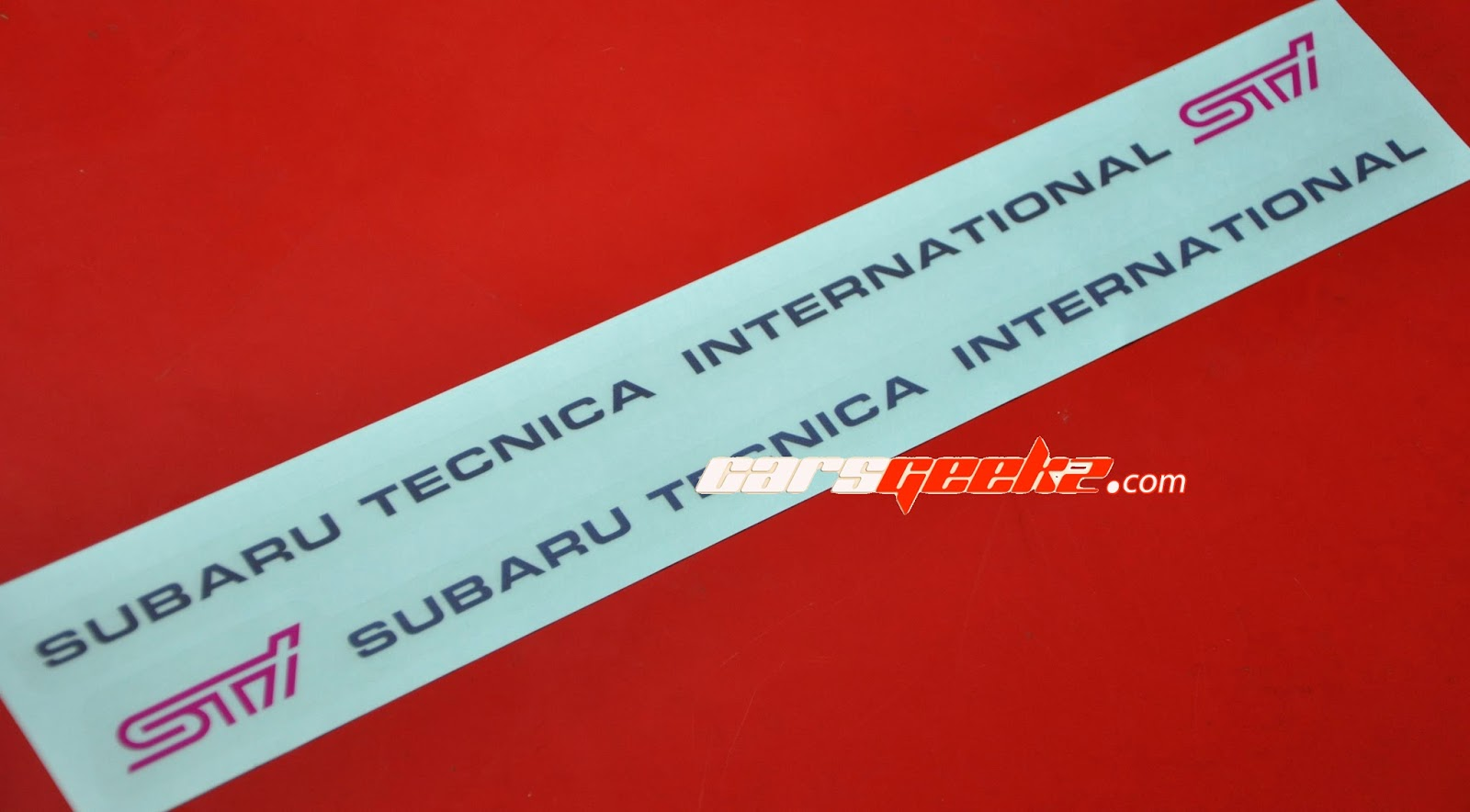 Subaru Tecnica International - STI Door Sticker OEM / decal / vinyl subaru