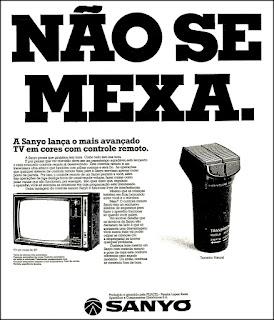 Sanyo, 1975. propaganda década de 70. Oswaldo Hernandez. anos 70. Reclame anos 70
