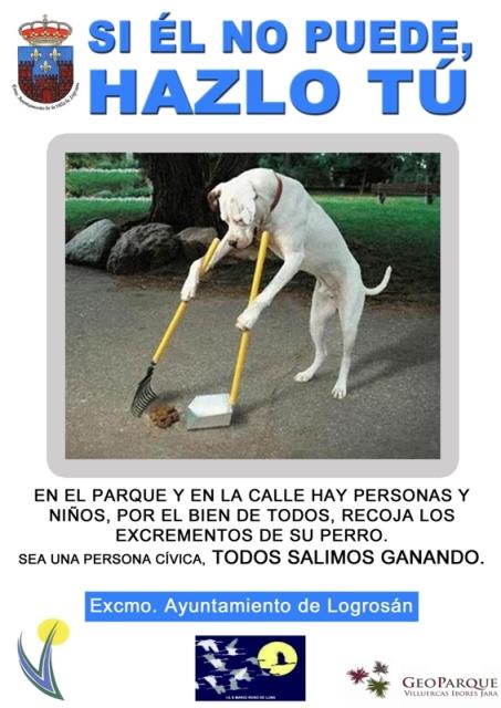 Hay que limpiar las heces de los perros