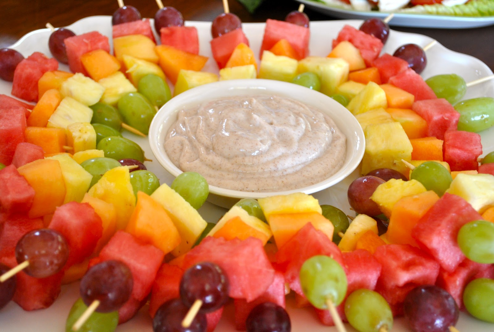Rainbow Fruit Skewers With Yogurt Fruit Dip Recipes — Dishmaps