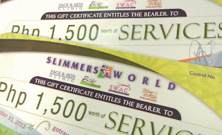 Slimmers World Gift Certificates From Go Travel
