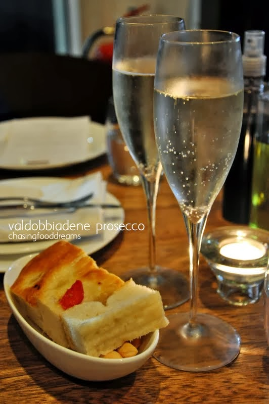 Complimentary Prosecco Glass With Meal
