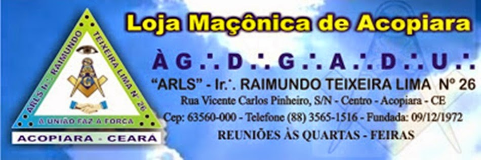 Loja Maçônica Irmão Raimundo Teixeira Lima 26