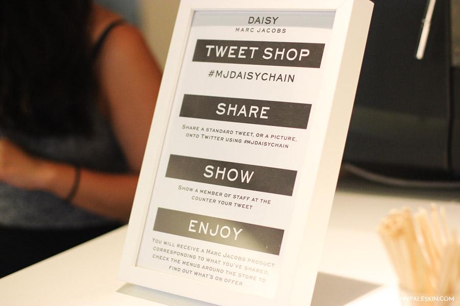 marc jacobs pop up tweet boutique, london, blogger