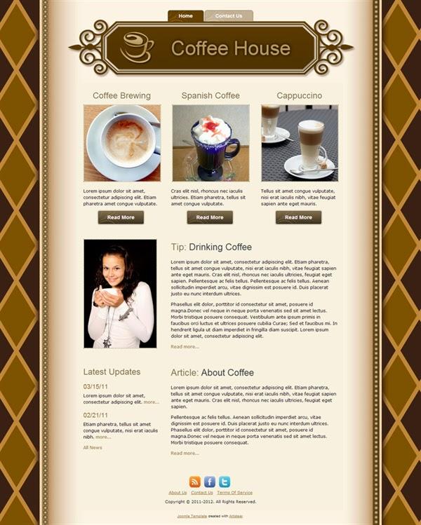 Coffee House - Free Joomla! Template