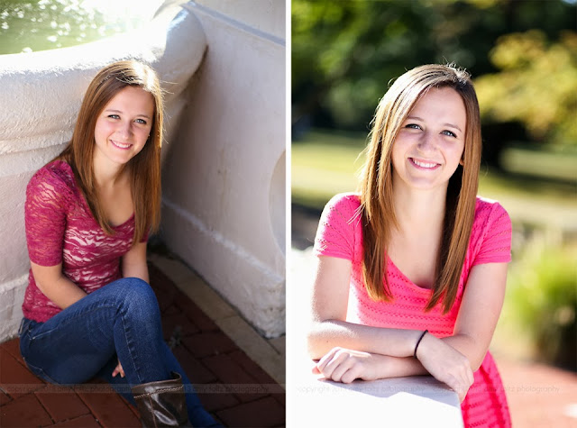 senior girl at St. Mary-of-the-Woods College - Terre Haute photographer