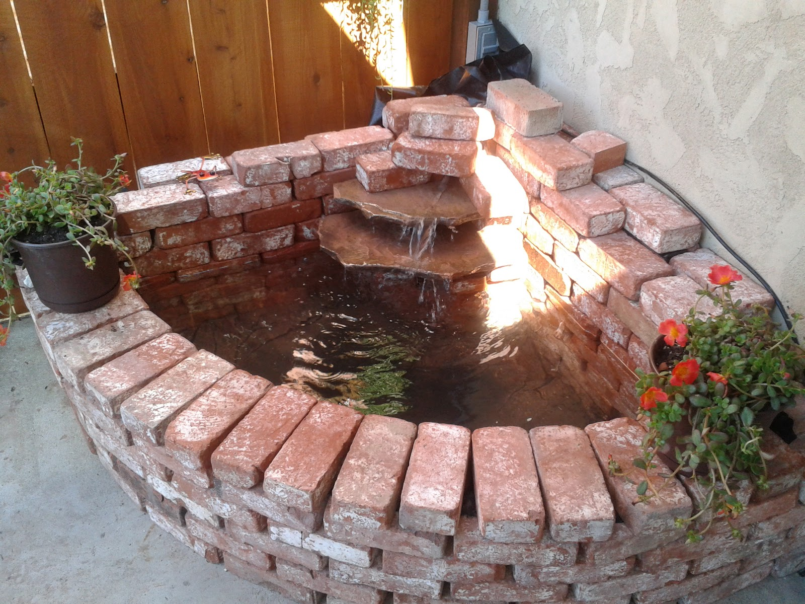 Stringbeadz designs how to build your own brick waterfall for Build your own waterfall pond