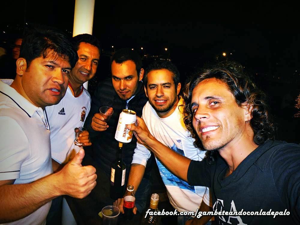 Con amigos mexicanos y chilenos en Buzios