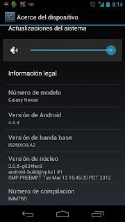 Actualización oficial a Android 4.0.4 para los Galaxy Nexus  (versión europea)