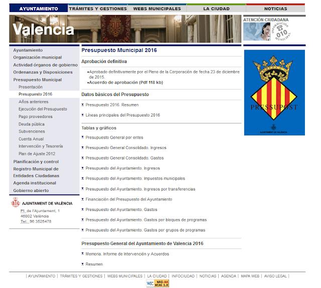 http://www.valencia.es/ayuntamiento/ayuntamiento.nsf/vDocumentosTituloAux/Presupuesto%20Municipal%20-%20Presupuesto%202016?opendocument&lang=1&nivel=5_2