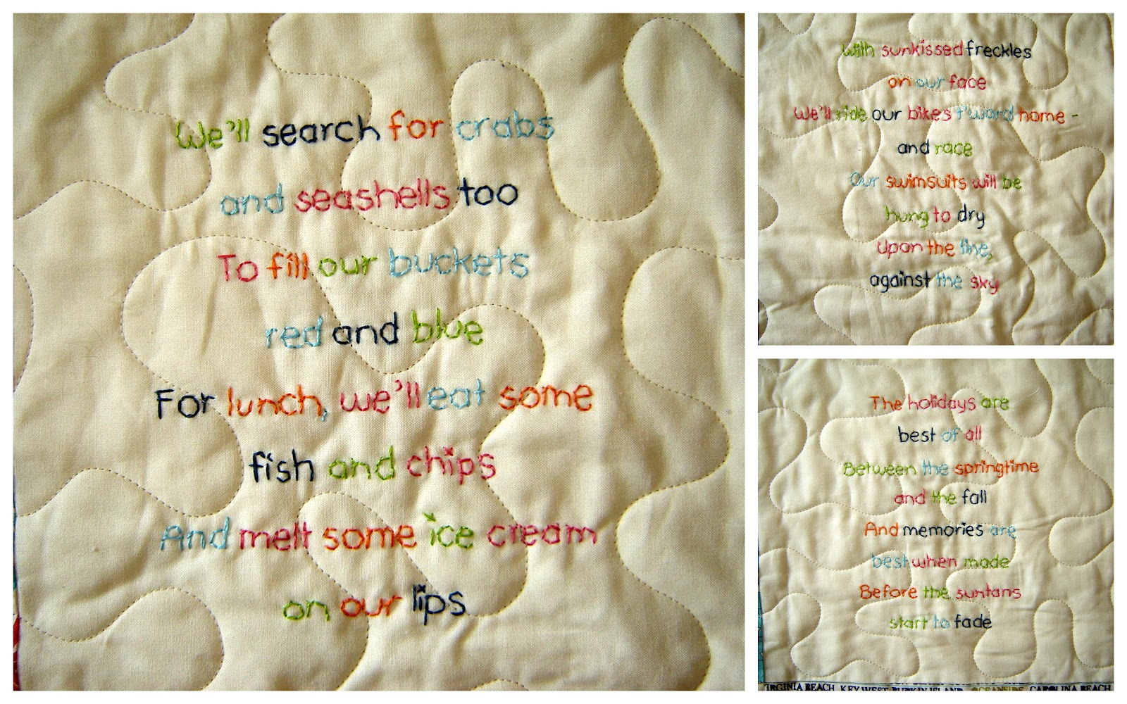 Lucy's Beach {Poetry} Quilt Â« Moda Bake Shop : quilting poem - Adamdwight.com