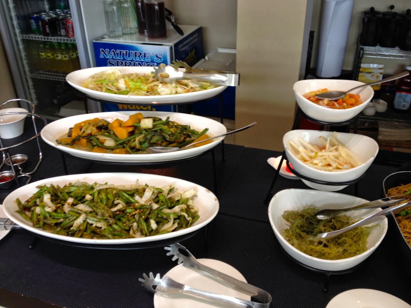 Pinakbet, Batong, Repolyo, Guso, atchara at the Daily Lunch Buffet at Isidra Comfort Cantina
