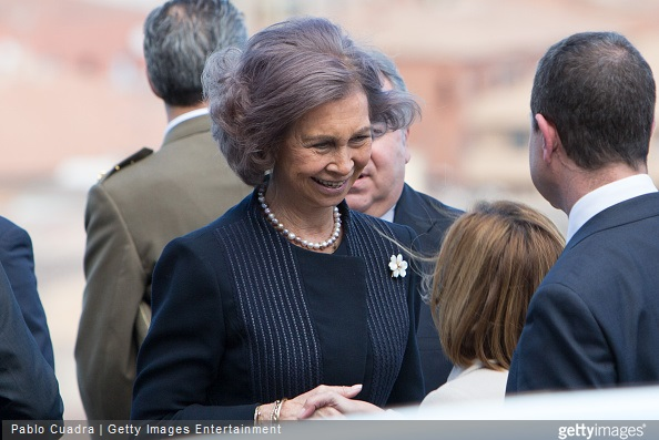 Queen Sofia of Spain attends the awards of the 'Real Fundacion de Toledo' at the 'El Greco' auditorium
