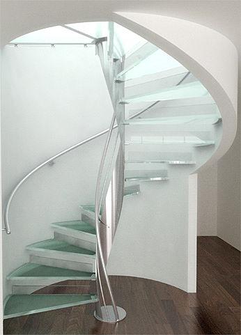 Arquitectura escaleras y barandales de acero inoxidable - Estructura caracol ...