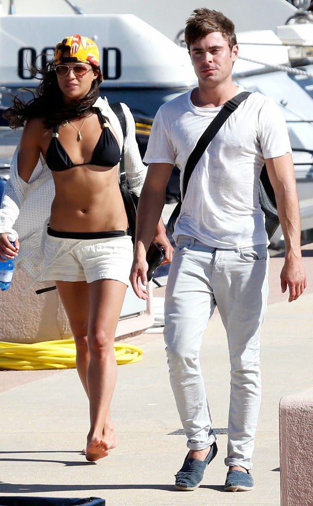 Zac Efron Can't Stop Cuddling With Michelle Rodriguez | News Vibe ...
