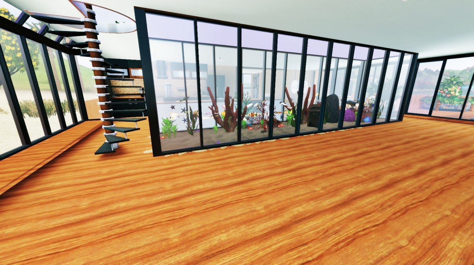 My sims 3 blog modern beach house by skyfallsims for Beach house designs for sims 3