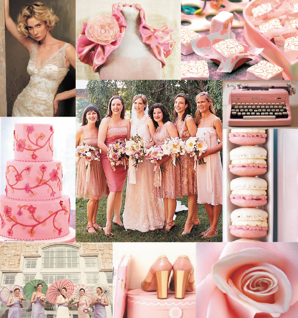 Choose Your Wedding Colors Different Tones Of Pink Have Your Dream Wedding