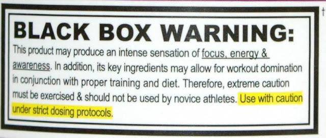 """אזהרת """"קופסה שחורה"""" על אריזת Jack3d"""