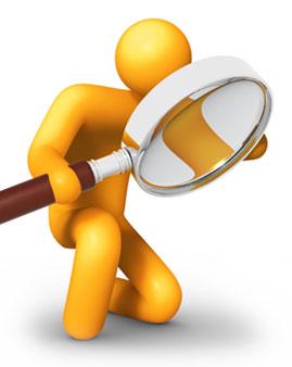 Ilustrasi Orang Sedang Menganalisa, melakukan analisa,  Analyzing