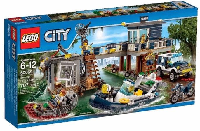 JUGUETES - LEGO City  60069 La Estación de Policía del Pantano  Producto Oficial 2015 | Piezas: 707 | Edad: 6-12 años