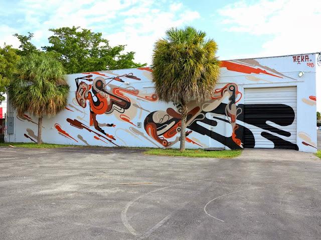 Street Art Mural By Australian Artist REKA in Miami, Florida for Art Basel 2013. 1