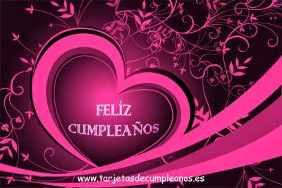 Feliz Cumpleaños corazón rosa