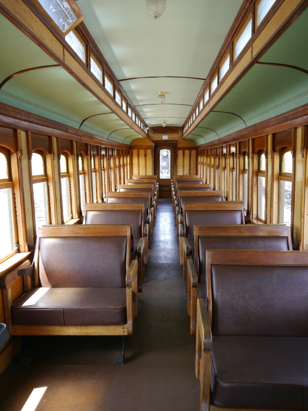 inside the passenger car