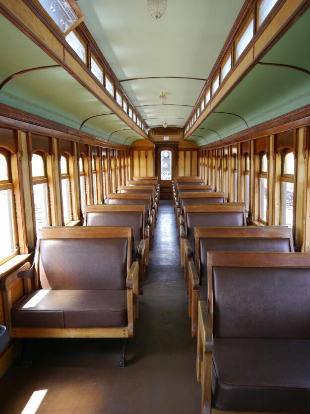 inside the passenger car