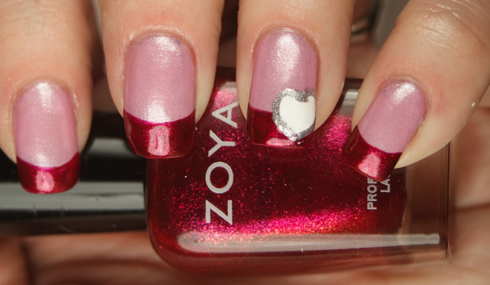Princess Polish: Valentine\'s Day French Manicure