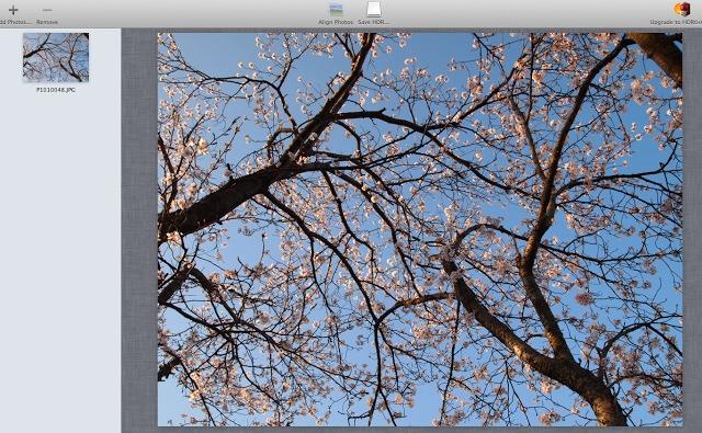 HDR写真ソフト取り込み