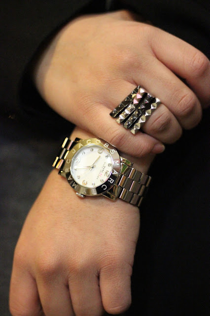 Stacked Rings and Boyfriend Watch