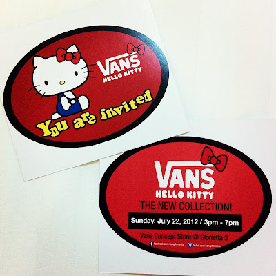 hello kitty vans invitation launching