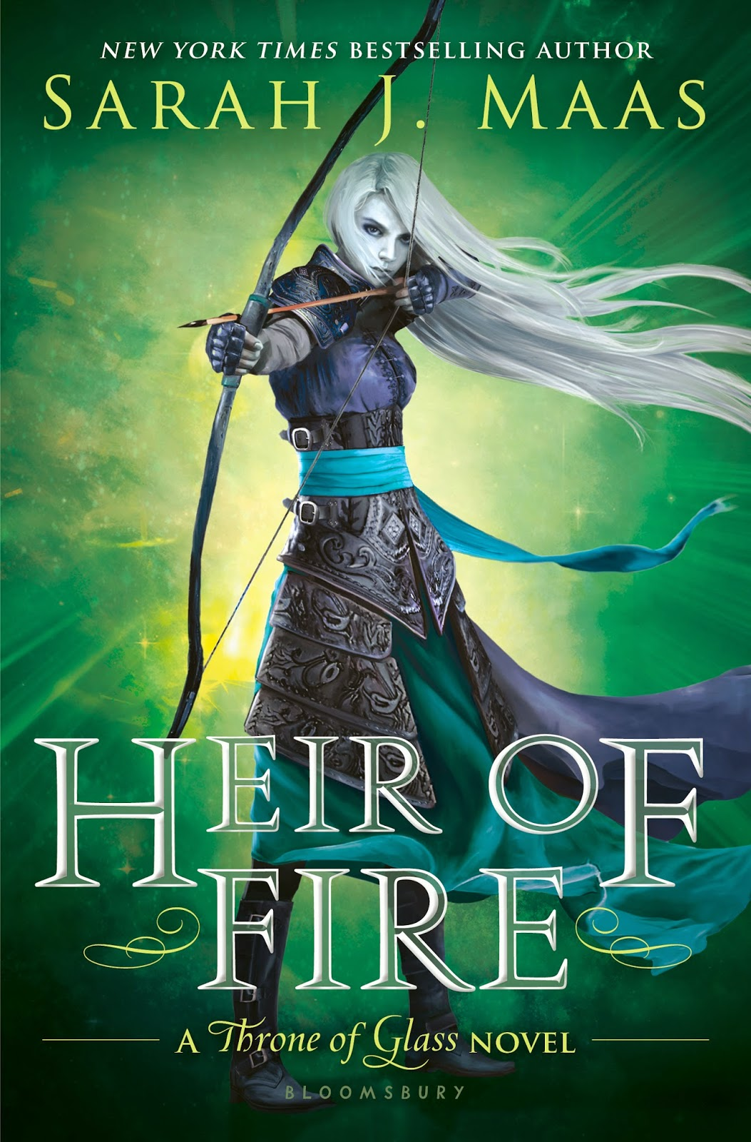Heir of Fire (Throne of Glass, Book 3) By Sarah J Maas USA Cover