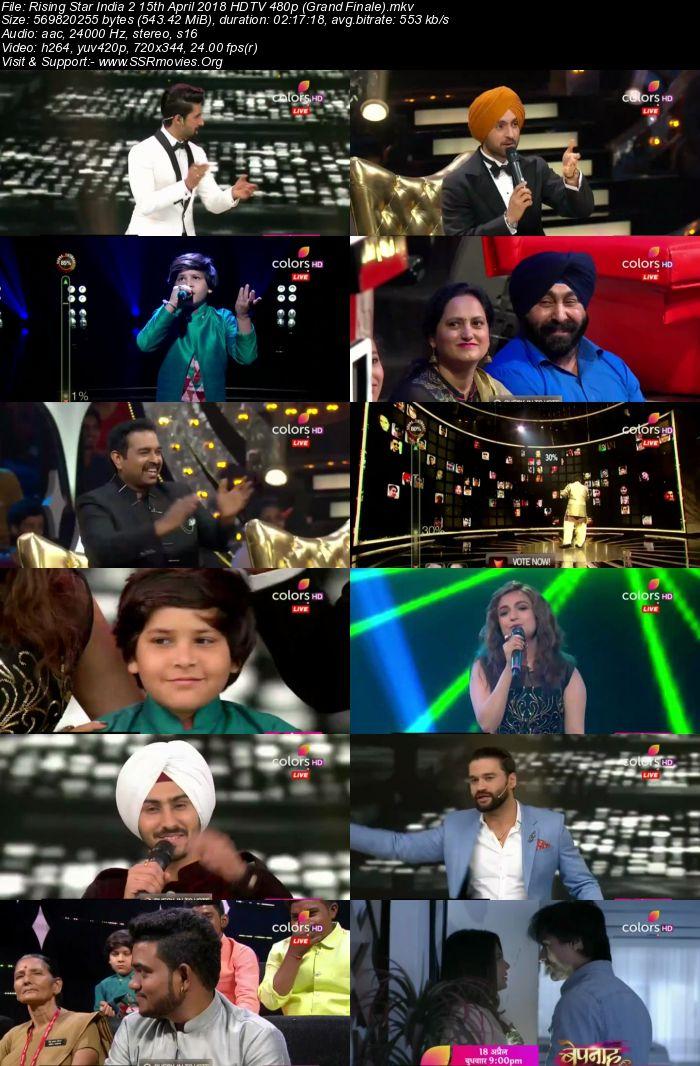 Rising Star India 2 15th April 2018 HDTV 480p