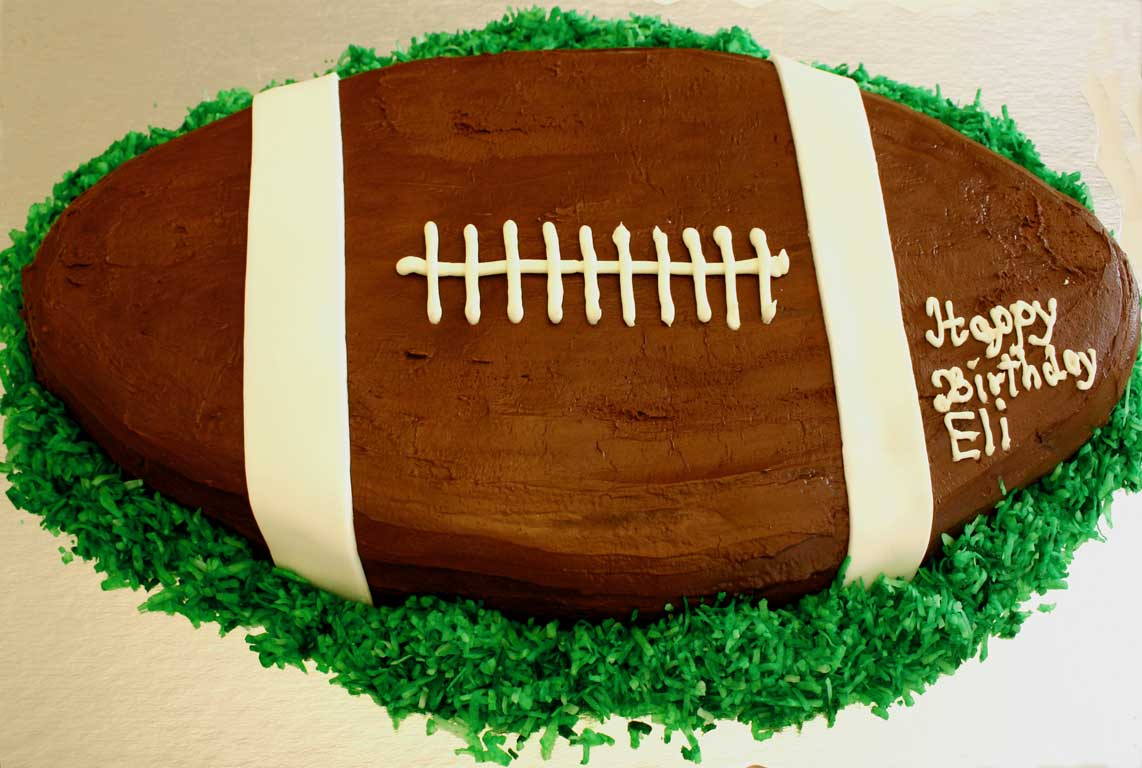 Everyday Finesse Gluten Free Football Birthday Cake