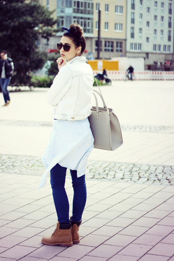 timberland casual look