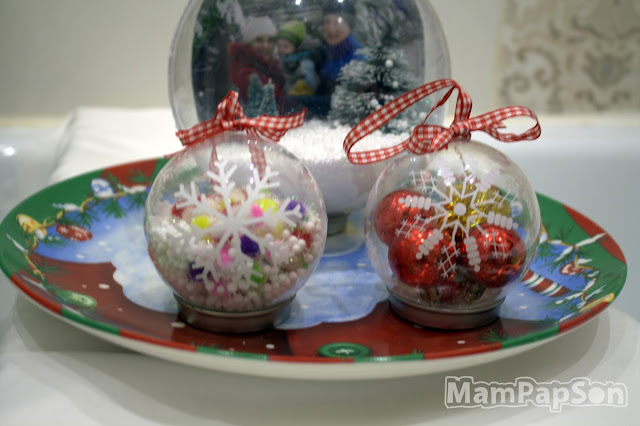 самодельные прозрачные елочные шарики