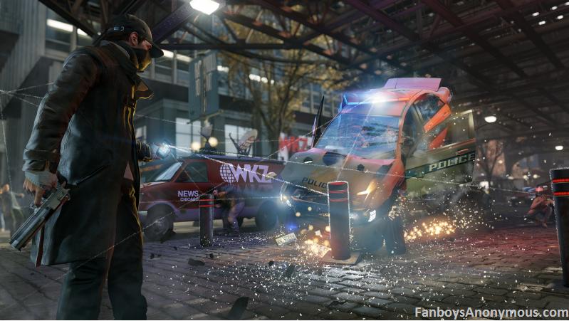 Mased vigilante car crash cell powered