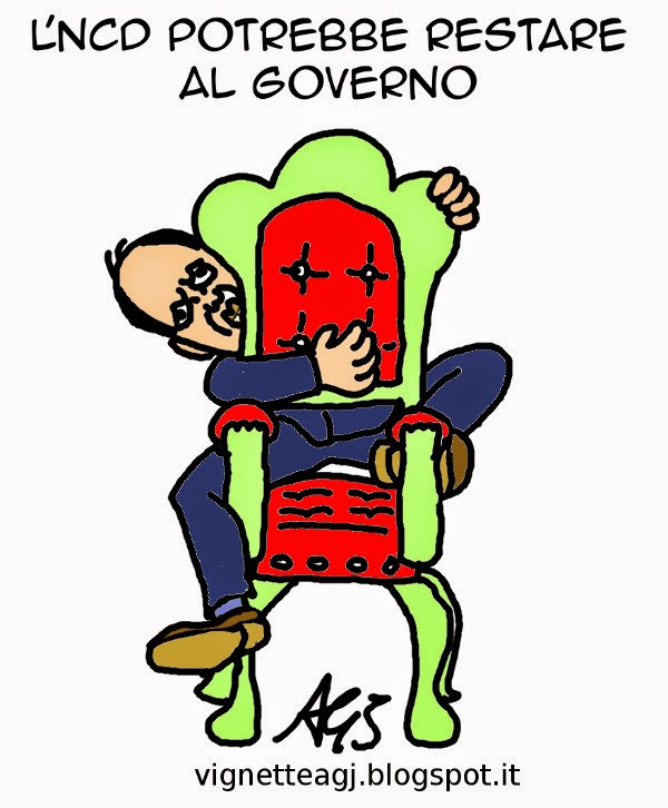 Alfano, NCD, Governo, satira, vignetta