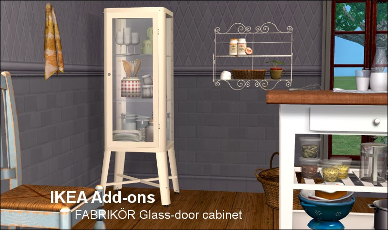 Ikea Garderobekast Verlichting ~ The Sims 2 Finds IKEA Add Ons FABRIKÖR Glass door cabinet  LeeFish