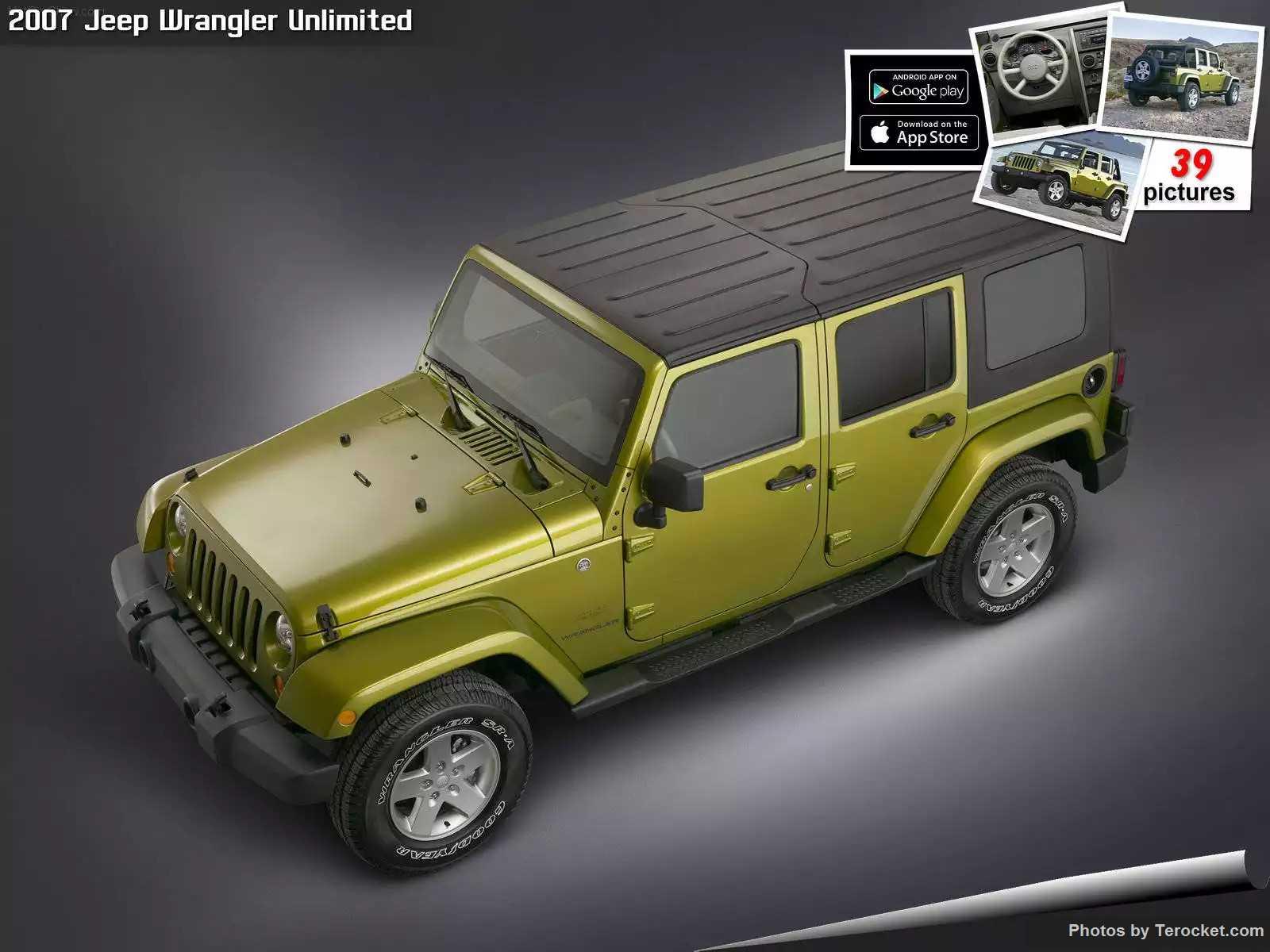 Hình ảnh xe ô tô Jeep Wrangler Unlimited 2007 & nội ngoại thất
