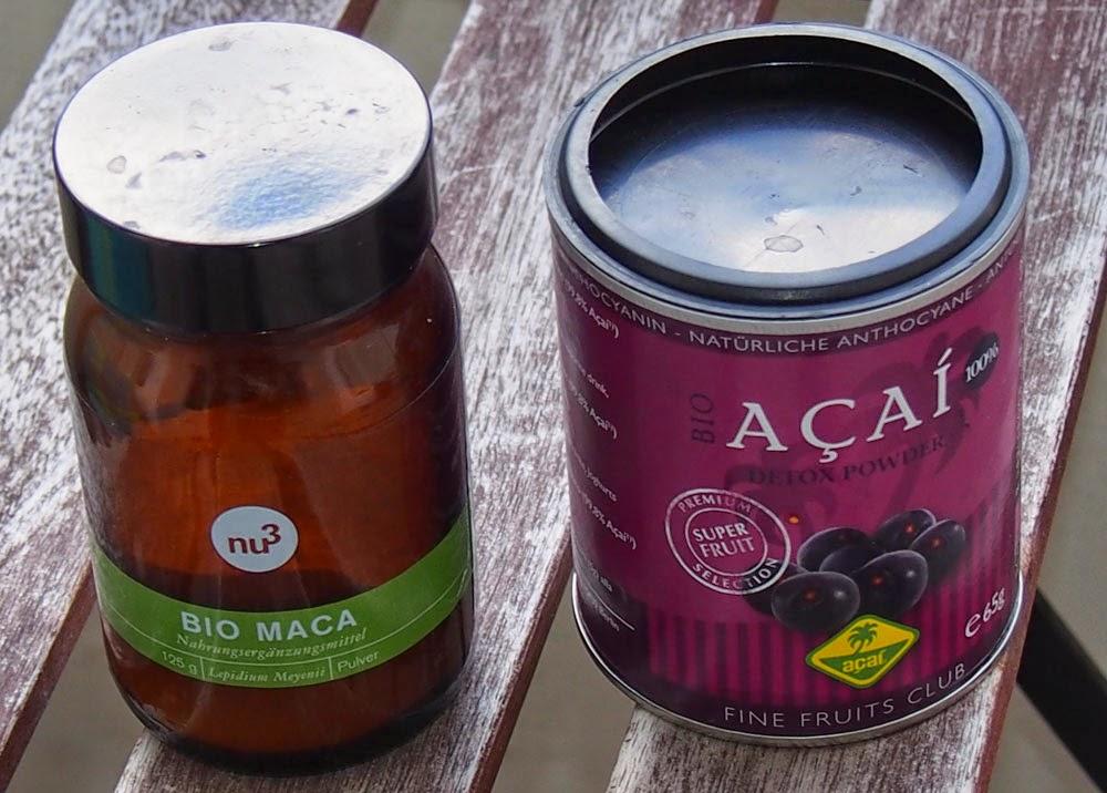 Maca ja acai ovat superfoodeja, joissa on paljon vitamiineja.