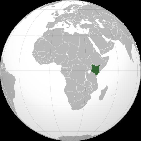 Globo Terráqueo Kenia