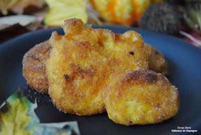 recette facile halloween beignets citrouille toussaint dessert espagnol
