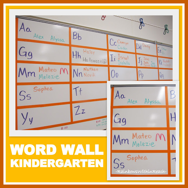 photo of: Sight Words on the Wipe Off Board via RainbowsWithinReach